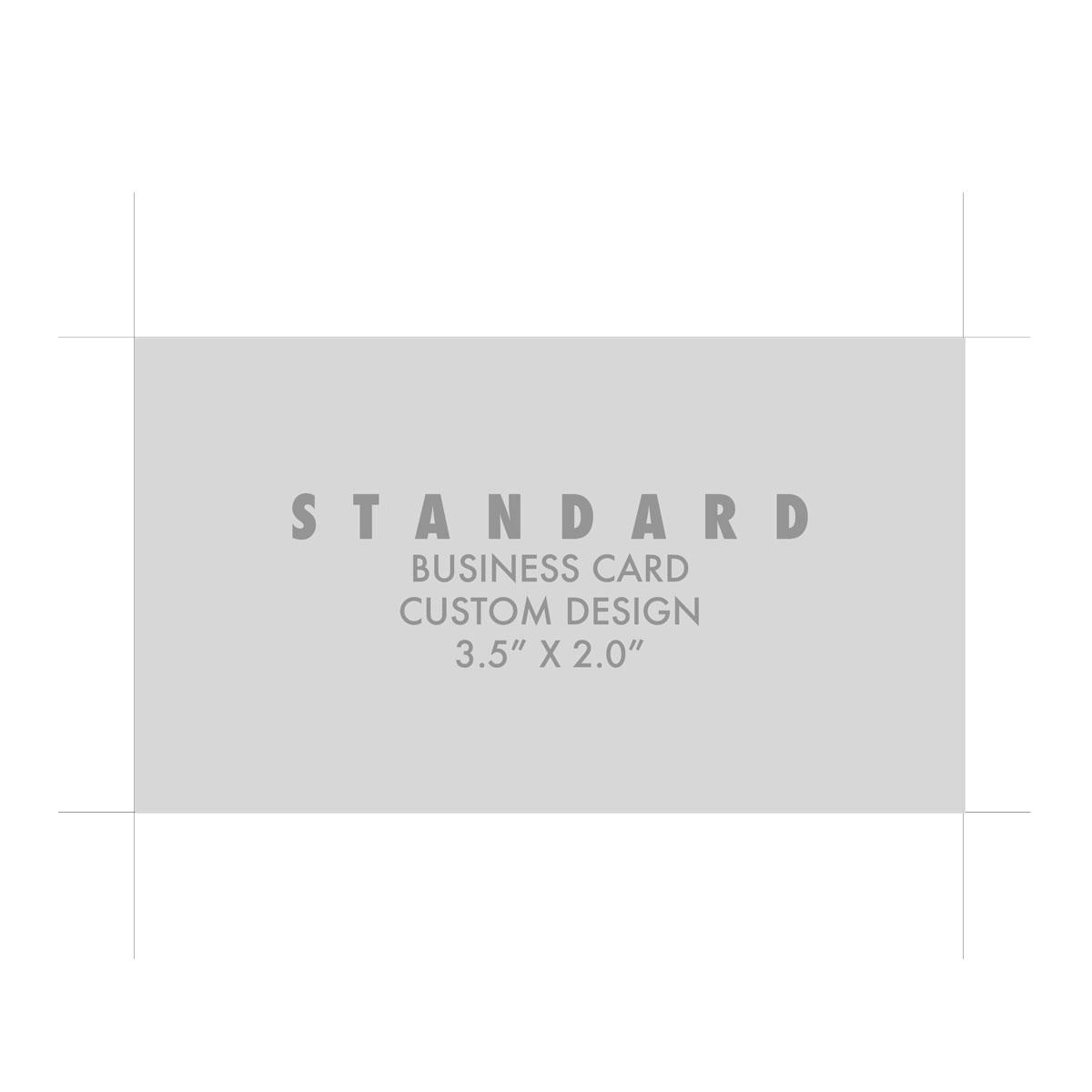BUSINESS CARD: STANDARD CUSTOM DESIGN - Creative Solutions Studio