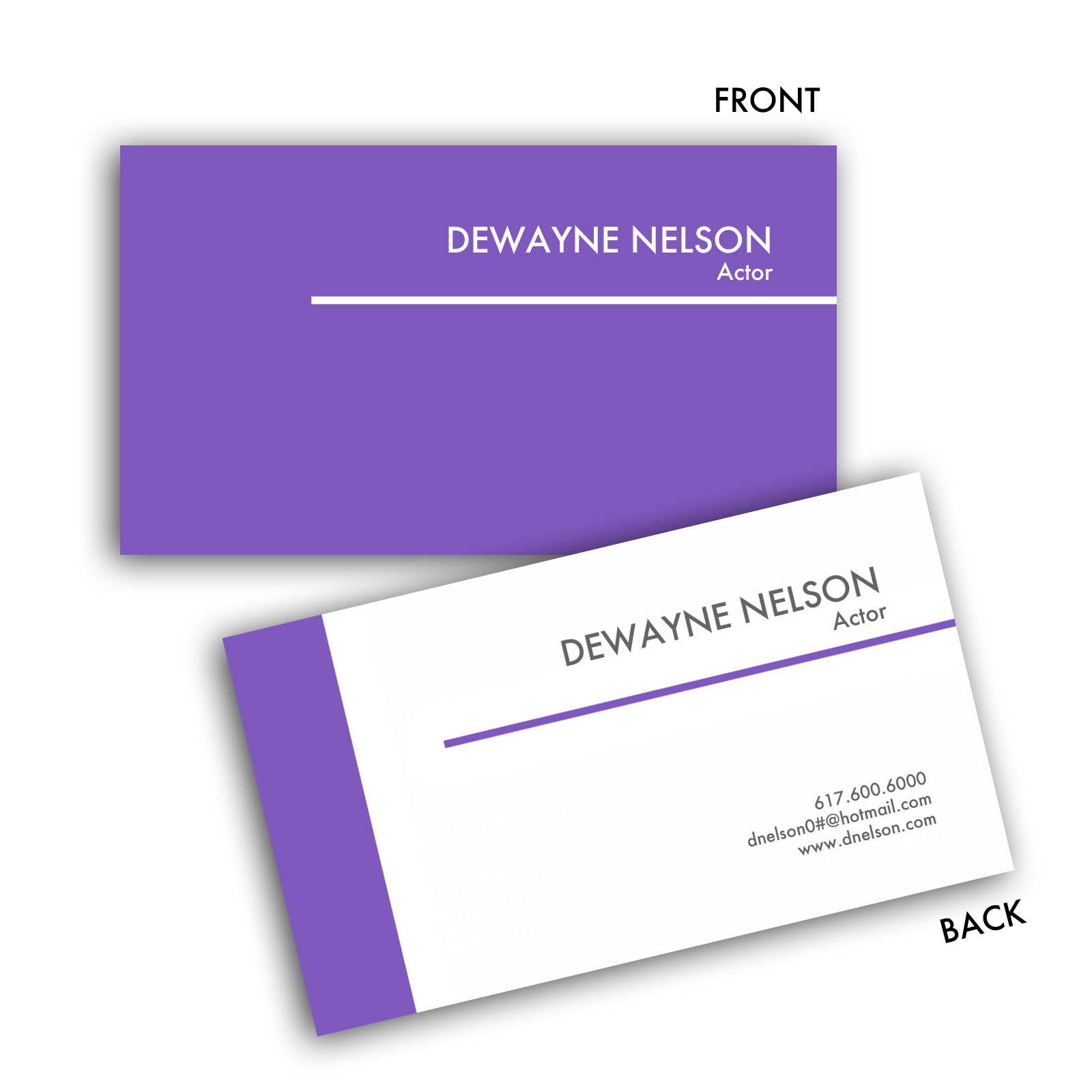 colour edge standard business card - Standard Business Card