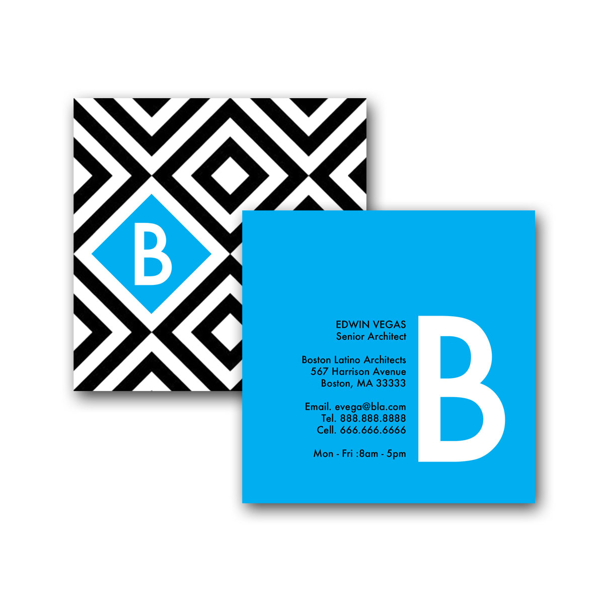 Squares in a square square business card creative solutions studio home business cards square business card designs squares in a square square business card magicingreecefo Image collections