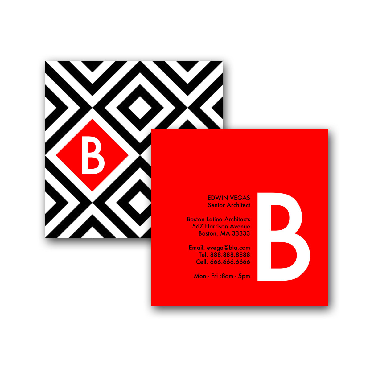 SQUARES IN A SQUARE - SQUARE BUSINESS CARD - Creative Solutions Studio